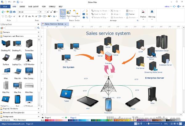 Network diagram maker 8 free download screenshot ccuart Images